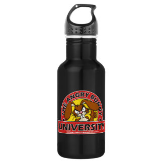 Angry Bunny University Stainless Steel Water Bottle