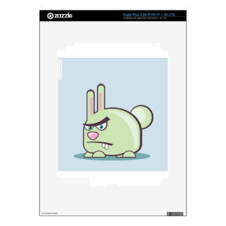 Angry Bunny Vector Icon iPad 3 Decals