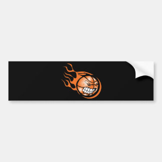 Angry Burning Basketball Bumper Sticker