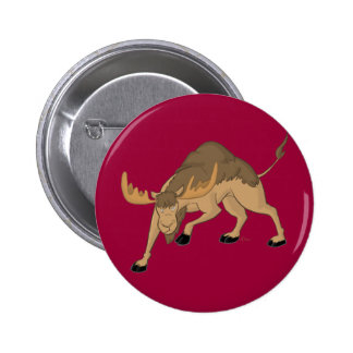 Angry Camel Moose Hybrid Button