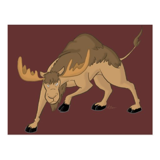 Angry Camel Moose Hybrid Postcard