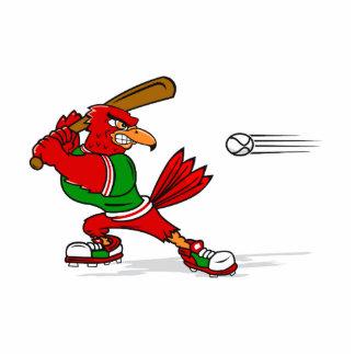 Angry Cardinal Batter Cutout