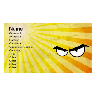 Angry Cartoon Eyes Double-Sided Standard Business Cards (Pack Of 100)