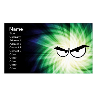 Angry Cartoon Eyes; Cool Double-Sided Standard Business Cards (Pack Of 100)