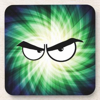 Angry Cartoon Eyes; Cool Drink Coasters