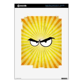 Angry Cartoon Eyes Skins For iPad 3