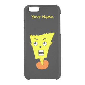 Angry Cartoon Face Clear iPhone 6/6S Case