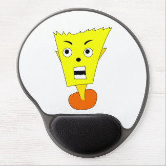 Angry Cartoon Face Gel Mouse Pad