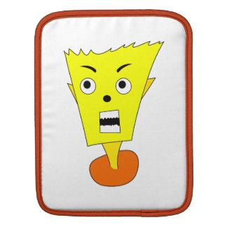 Angry Cartoon Face Sleeve For iPads