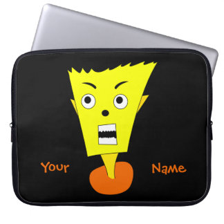 Angry Cartoon Face Laptop Sleeves