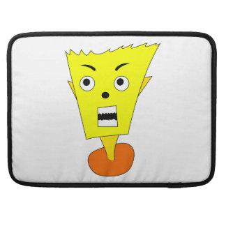 Angry Cartoon Face Sleeve For MacBooks