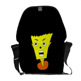 Angry Cartoon Face Courier Bag