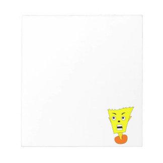Angry Cartoon Face Notepad