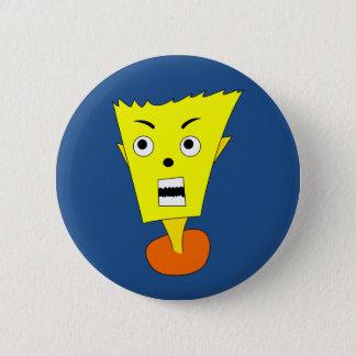 Angry Cartoon Face Pinback Button