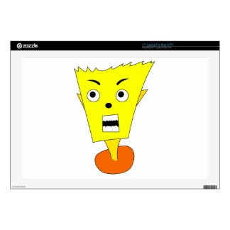 Angry Cartoon Face Skins For Laptops