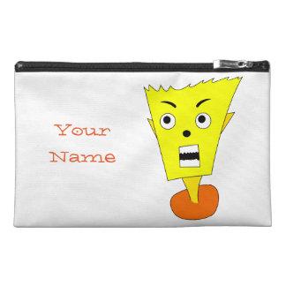 Angry Cartoon Face Travel Accessory Bag
