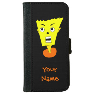 Angry Cartoon Face Wallet Phone Case For iPhone 6/6s