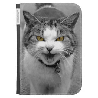Angry Cat Kindle Folio Case