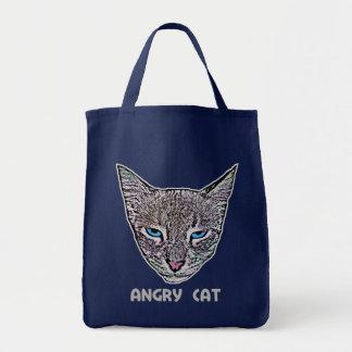 Angry Cat Dark Bags