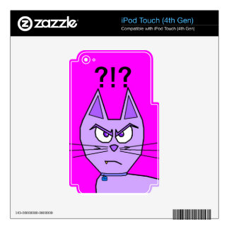Angry Cat Decal For iPod Touch 4G