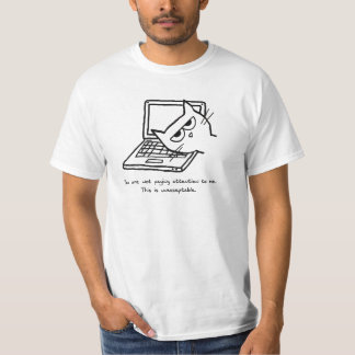 Angry Cat Demands Attention - Funny Cat Tshirt