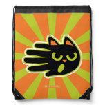 Hand shaped Angry Cat Drawstring Bag