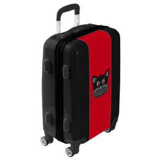 Angry Cat Face Design Luggage