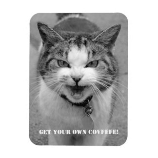 """Angry Cat  """"Get your own Covfefe!"""" funny magnet"""