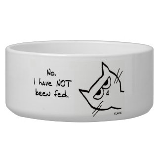 Angry Cat has NOT been fed! Bowl