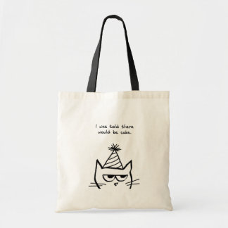 Angry Cat Hates Birthdays Budget Tote Bag