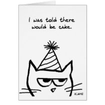 Angry Cat Hates Birthdays - Funny Cat Card