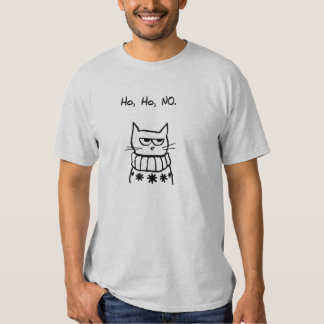 Angry Cat in a Christmas Sweater - Funny Cat Xmas T Shirt