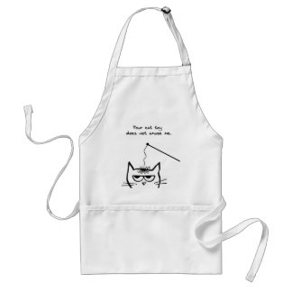 Angry Cat is not amused Adult Apron