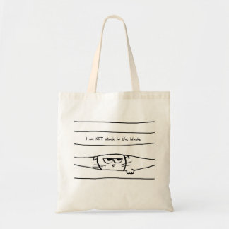 Angry Cat is NOT Stuck in the Blinds Tote Bag