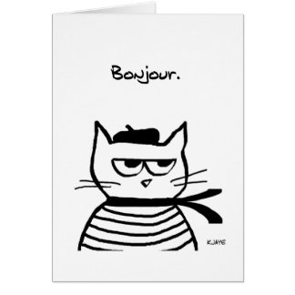 Angry Cat is So Very French Card