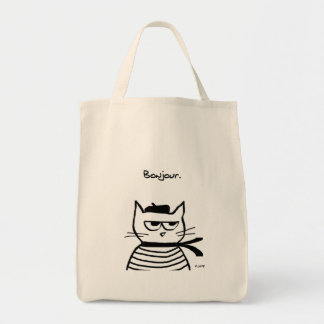 Angry Cat is So Very French Tote Bag