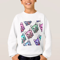 angry, cat, kawaii, cute, animal, mooon, alien, sp sweatshirt