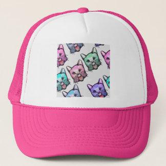 angry, cat, kawaii, cute, animal, mooon, alien, sp trucker hat