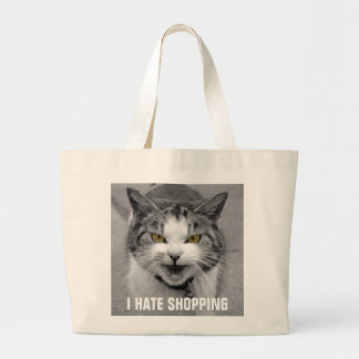 Angry Cat Large Tote Bag