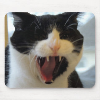 Angry Cat Mouse Pad
