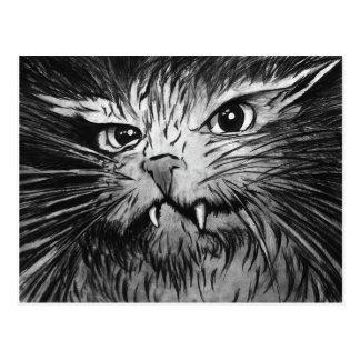 Angry Cat Mural Postcard