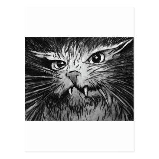 Angry Cat Mural Postcards