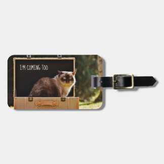 Angry Cat Personalized Luggage TAG Funny Custom
