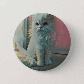Angry Cat Pinback Button