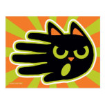 Hand shaped Angry Cat Postcard