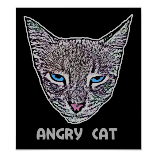 Angry Cat Poster