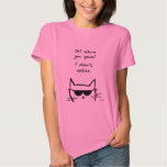 Angry Cat Pouts When You're Gone Shirt