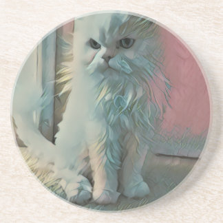 Angry Cat Sandstone Coaster