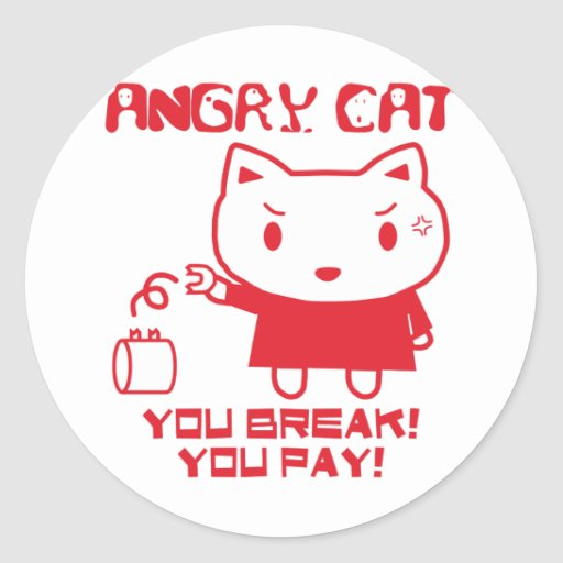 ANGRY CAT STICKERS