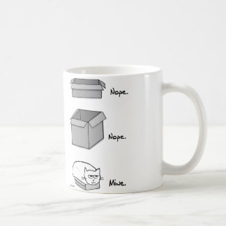 Angry Cat Totally Fits in this Box Coffee Mug